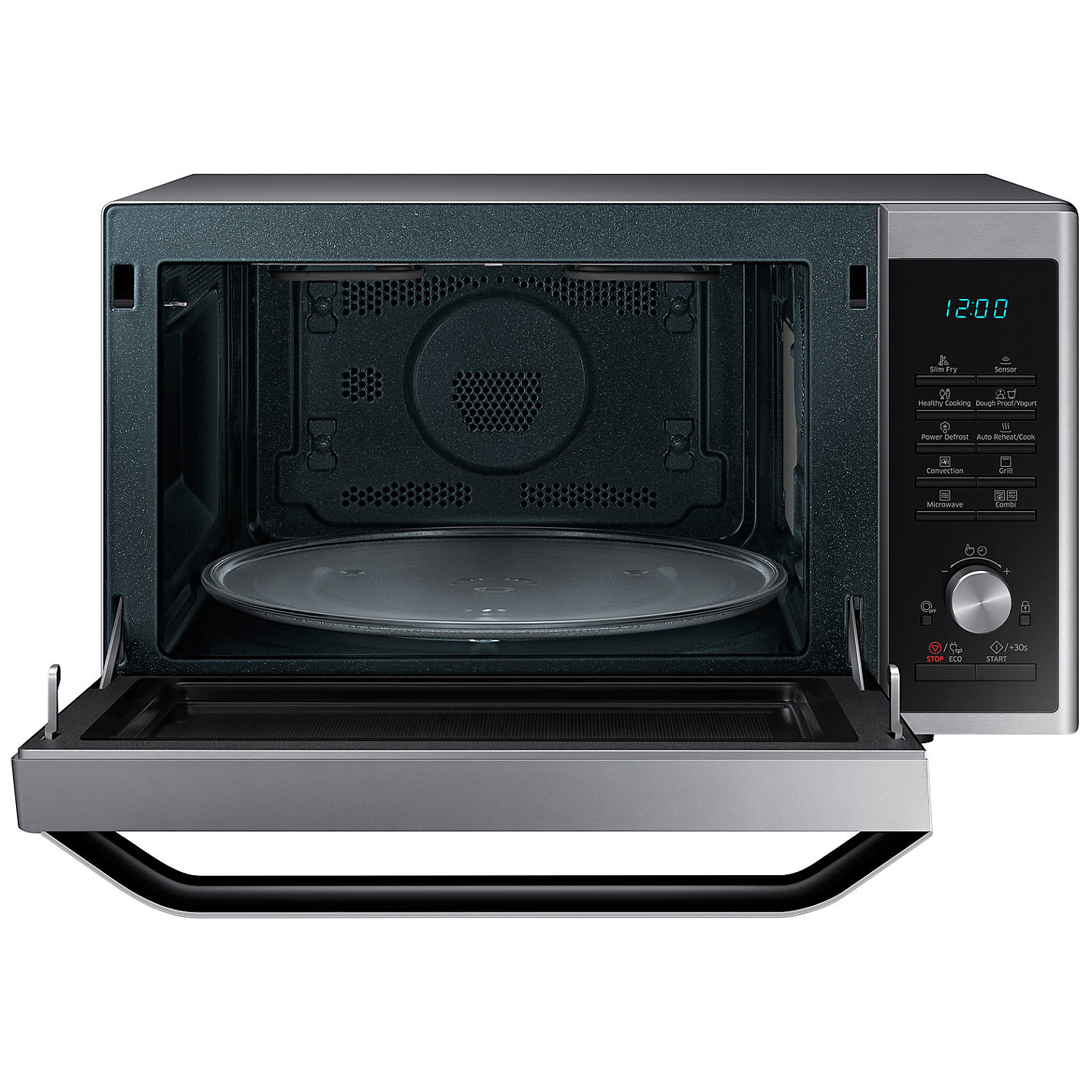 Samsung Mc32j7055ct Freestanding Microwave Oven Stainless Steel Online At Johnlewis