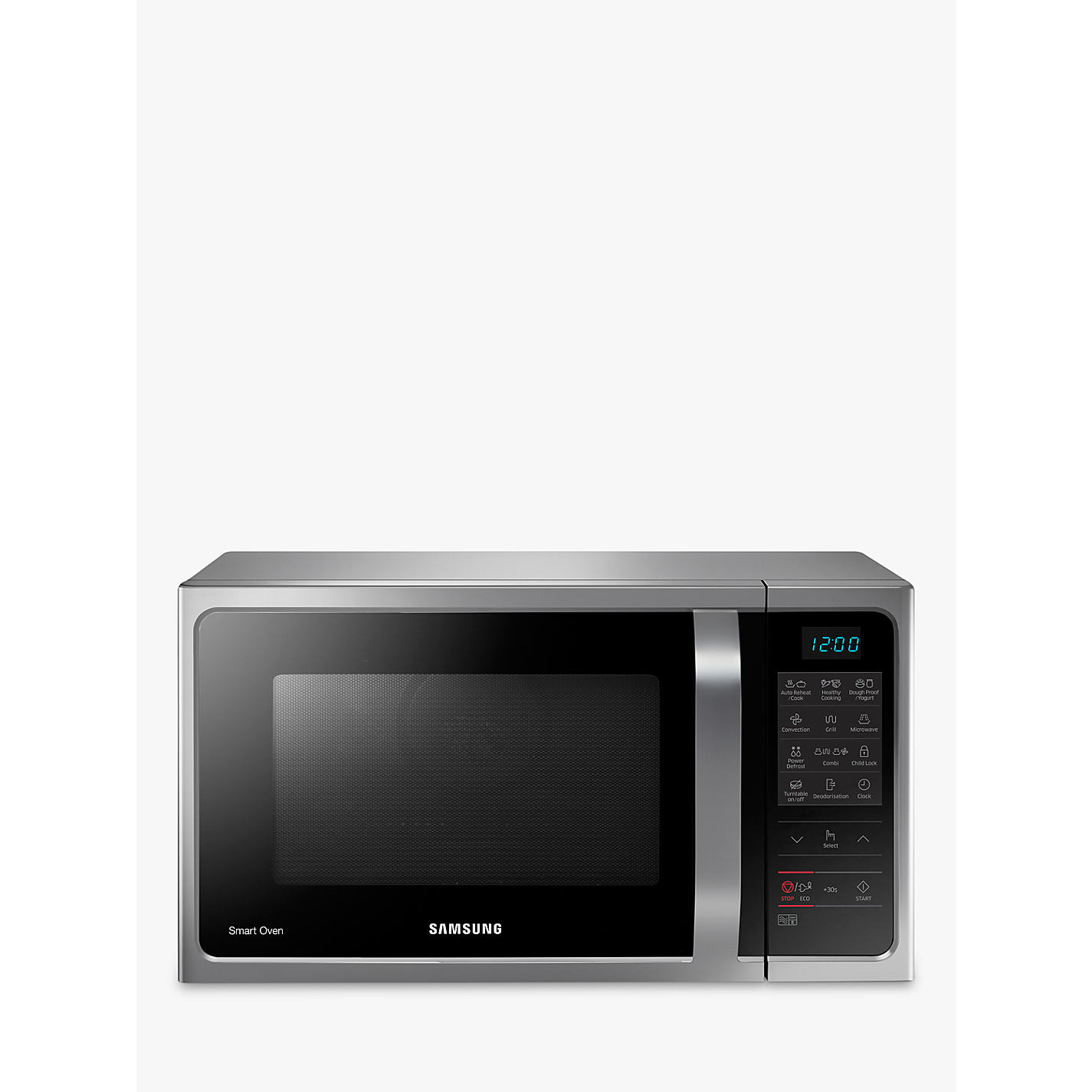 Samsung Mc28h5013as Freestanding Microwave Oven Silver Online At Johnlewis