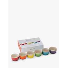 Buy Le Creuset Rainbow Mini Ramekin, Set of 6 Online at johnlewis.com