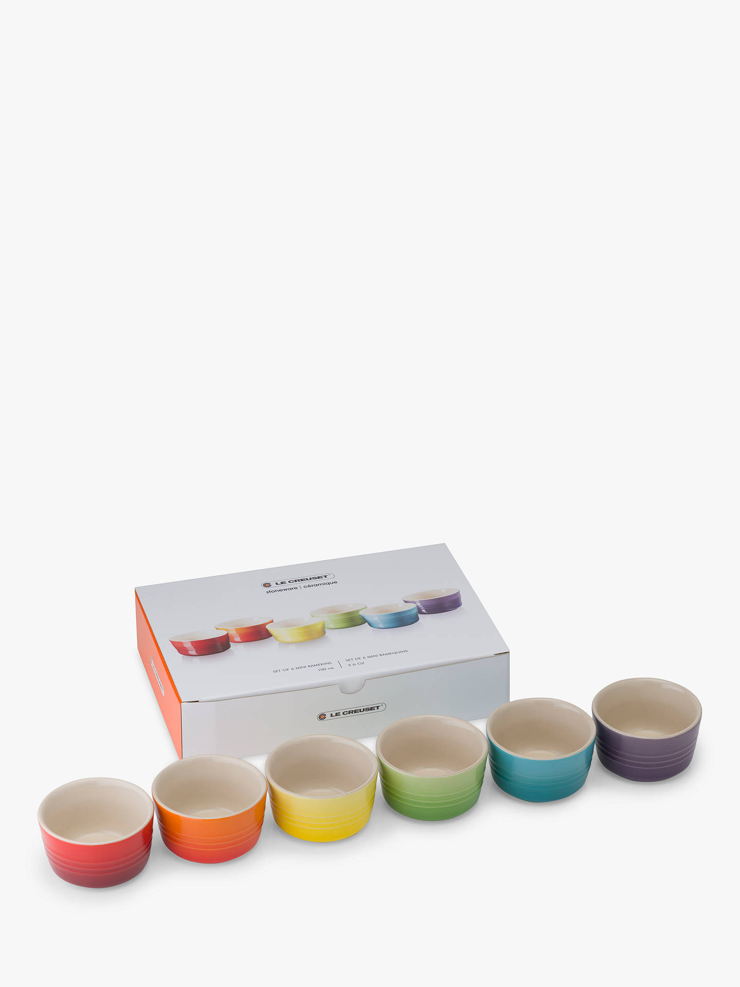 BuyLe Creuset Rainbow Mini Ramekin, Set of 6, Assorted Online at johnlewis.com