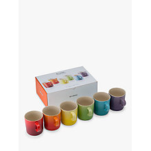 Buy Le Creuset Rainbow Mugs, Set of 6 Online at johnlewis.com
