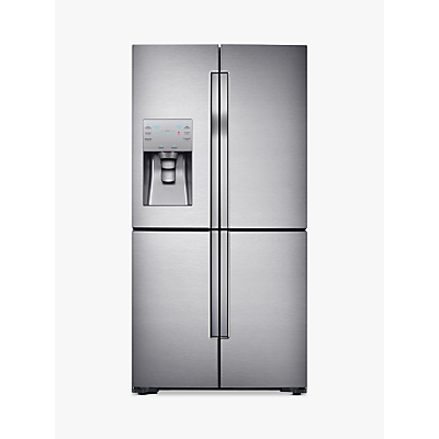 Samsung RF56J9040SR 4-Door American Style Fridge Freezer, A+ Energy Rating, 90cm Width, Stainless Steel