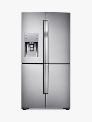 Samsung RF56J9040SR 4-Door American-Style Freestanding 65/35 Fridge Freezer, A+ Energy Rating, 90cm Width, Stainless Steel