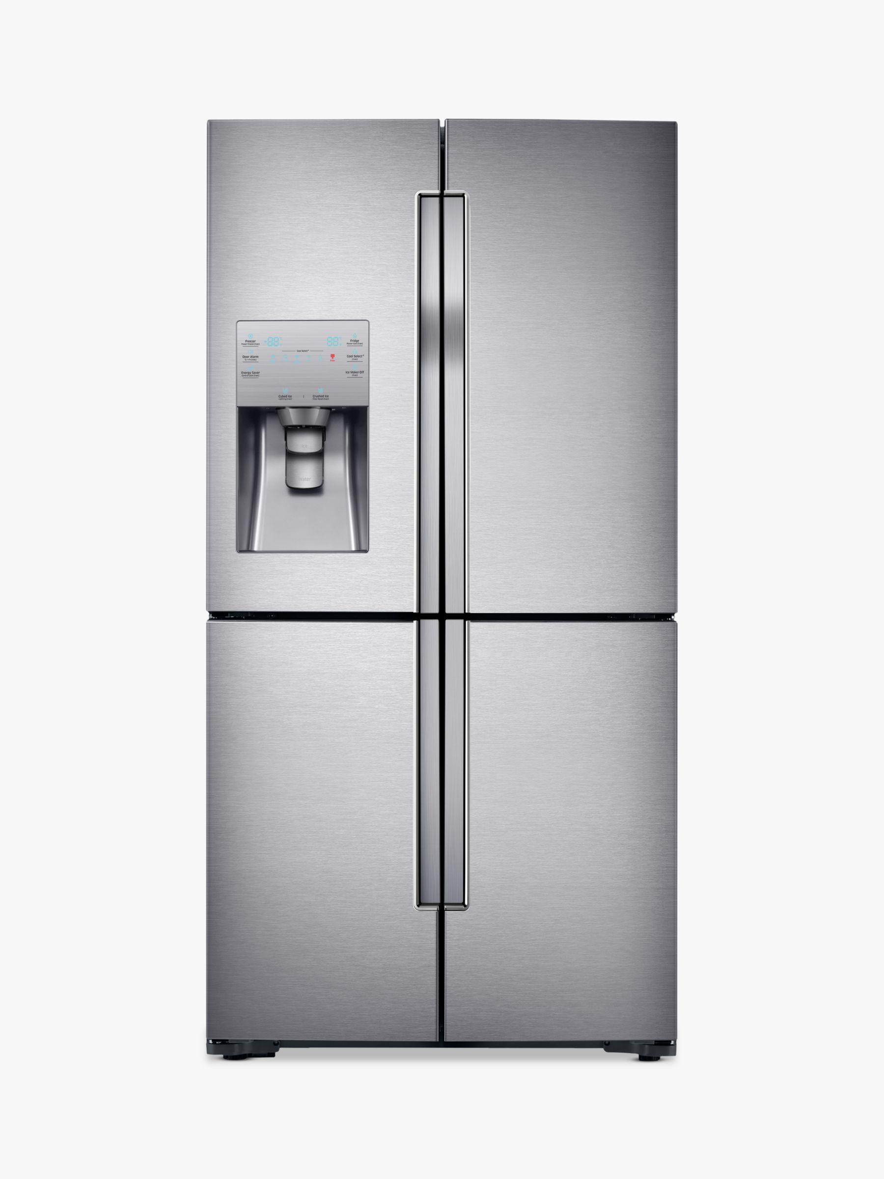 Samsung Samsung RF56J9040SR 4-Door American Style Fridge Freezer, A+ Energy Rating, 90cm Width, Stainless Steel