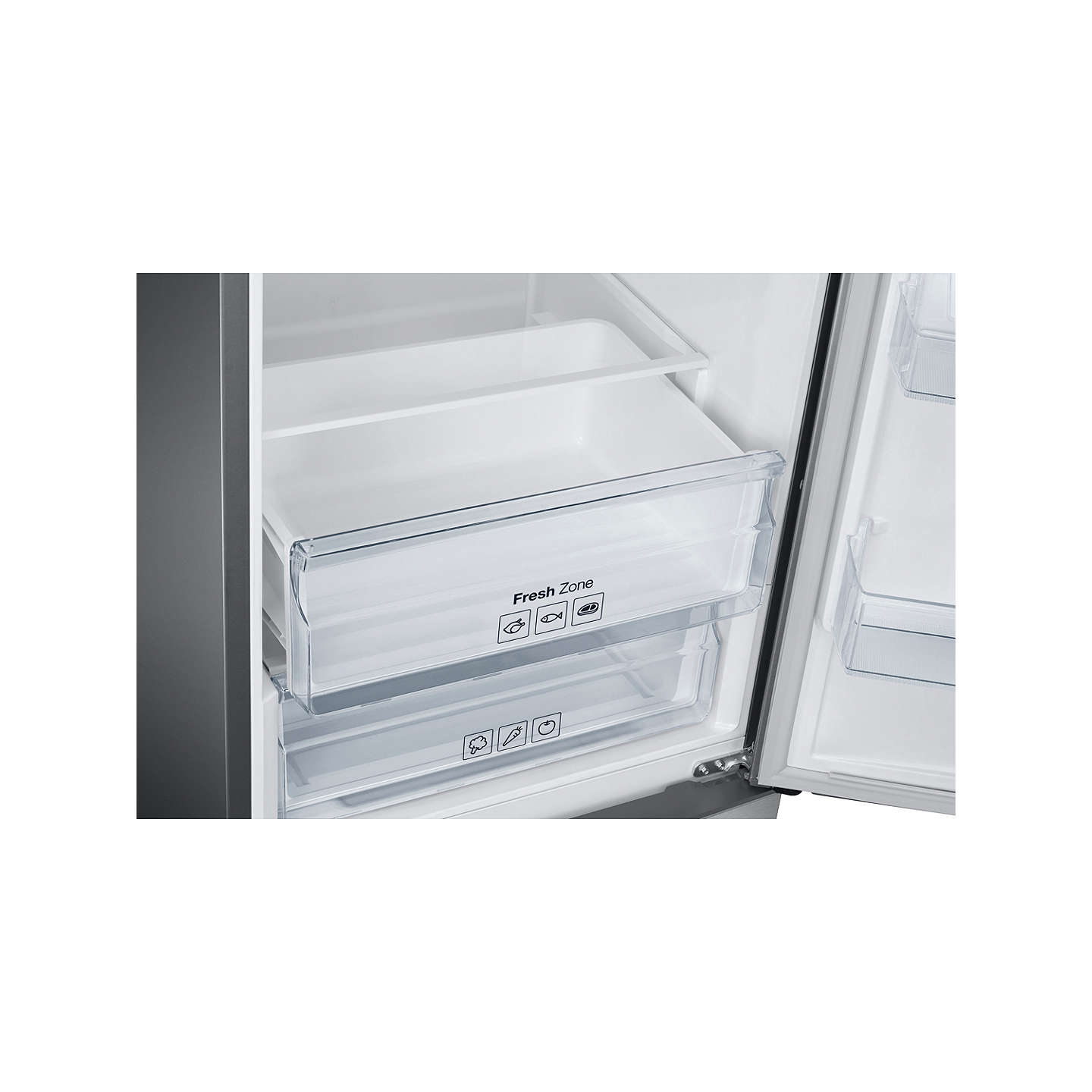 BuySamsung RB37J5230SL Freestanding Fridge-Freezer, A+ Energy Rating, 60cm Wide, Stainless Steel Online at johnlewis.com