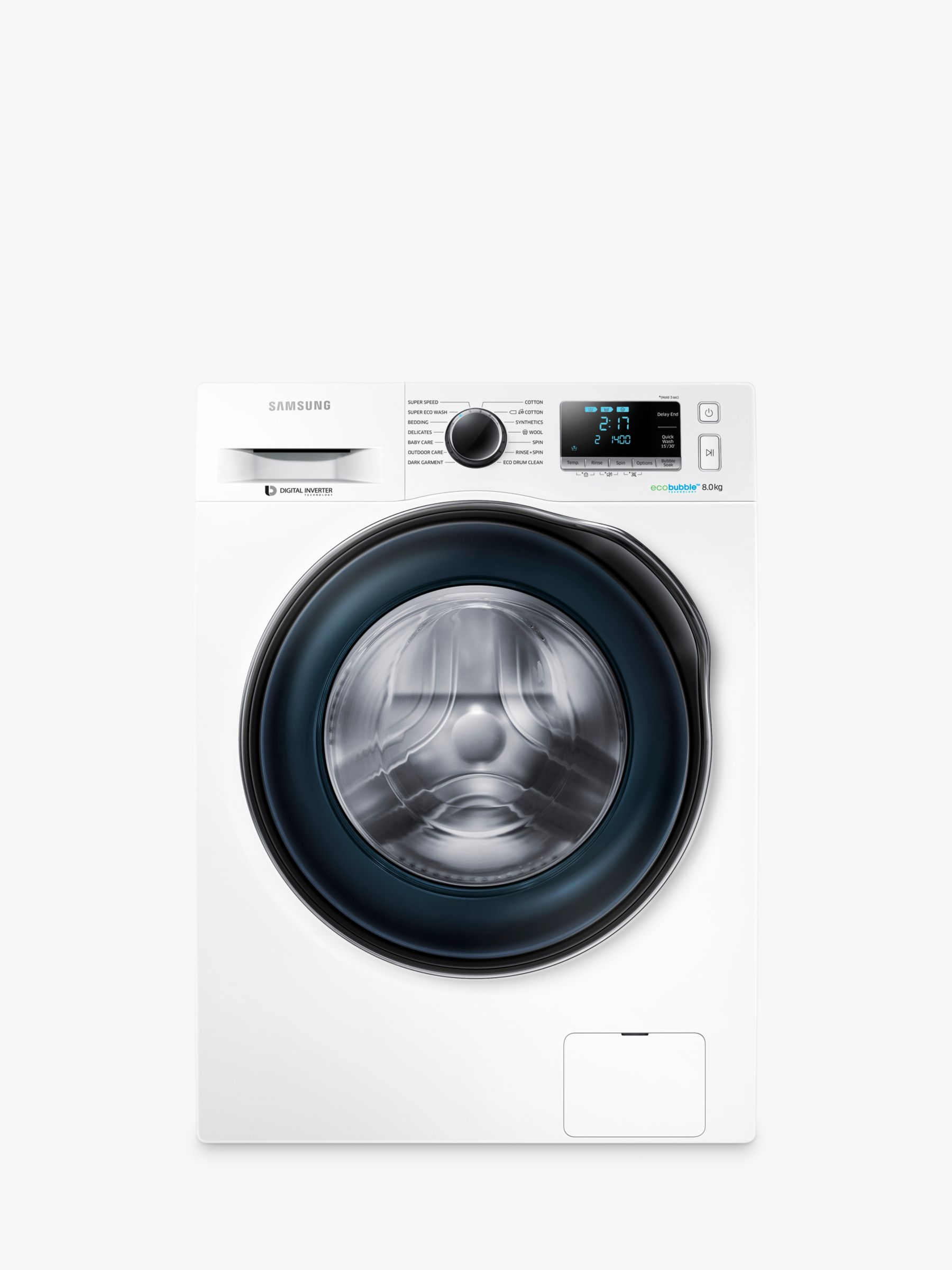 Samsung Samsung WW80J6410CW Freestanding Washing Machine, 8kg Load, A+++ Energy Rating, 1400rpm Spin, White