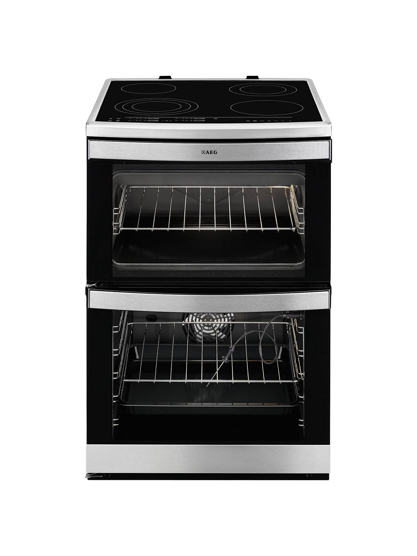 AEG 49176V-MN Electric Cooker, Stainless Steel at John Lewis & Partners