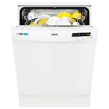 Buy Zanussi ZDF26011WA Freestanding Dishwasher, White Online at johnlewis.com