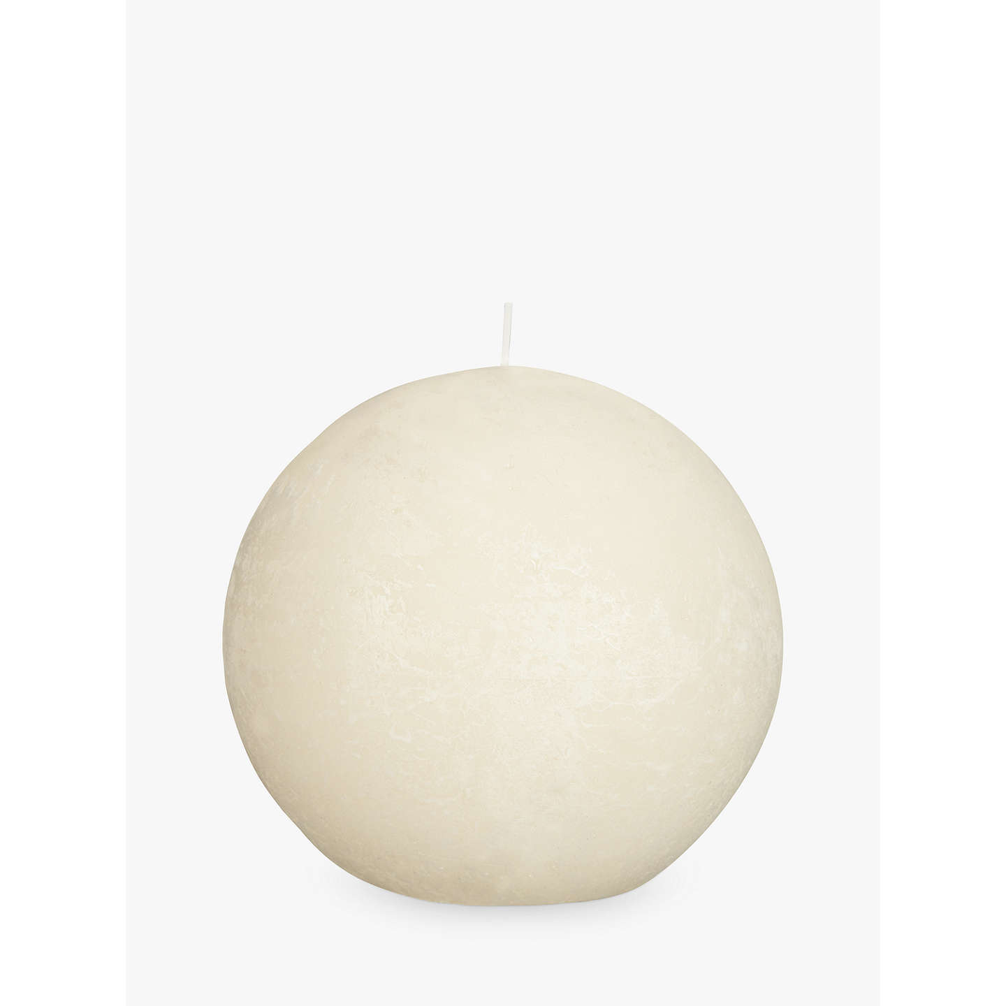 BuyJohn Lewis Rustic Effect Ball Candle, W10cm, Ivory Online at johnlewis.com