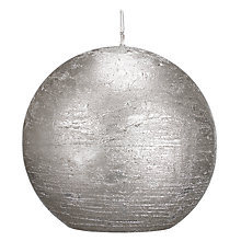 Buy John Lewis Rustic Effect Ball Candle, W7.5cm Online at johnlewis.com