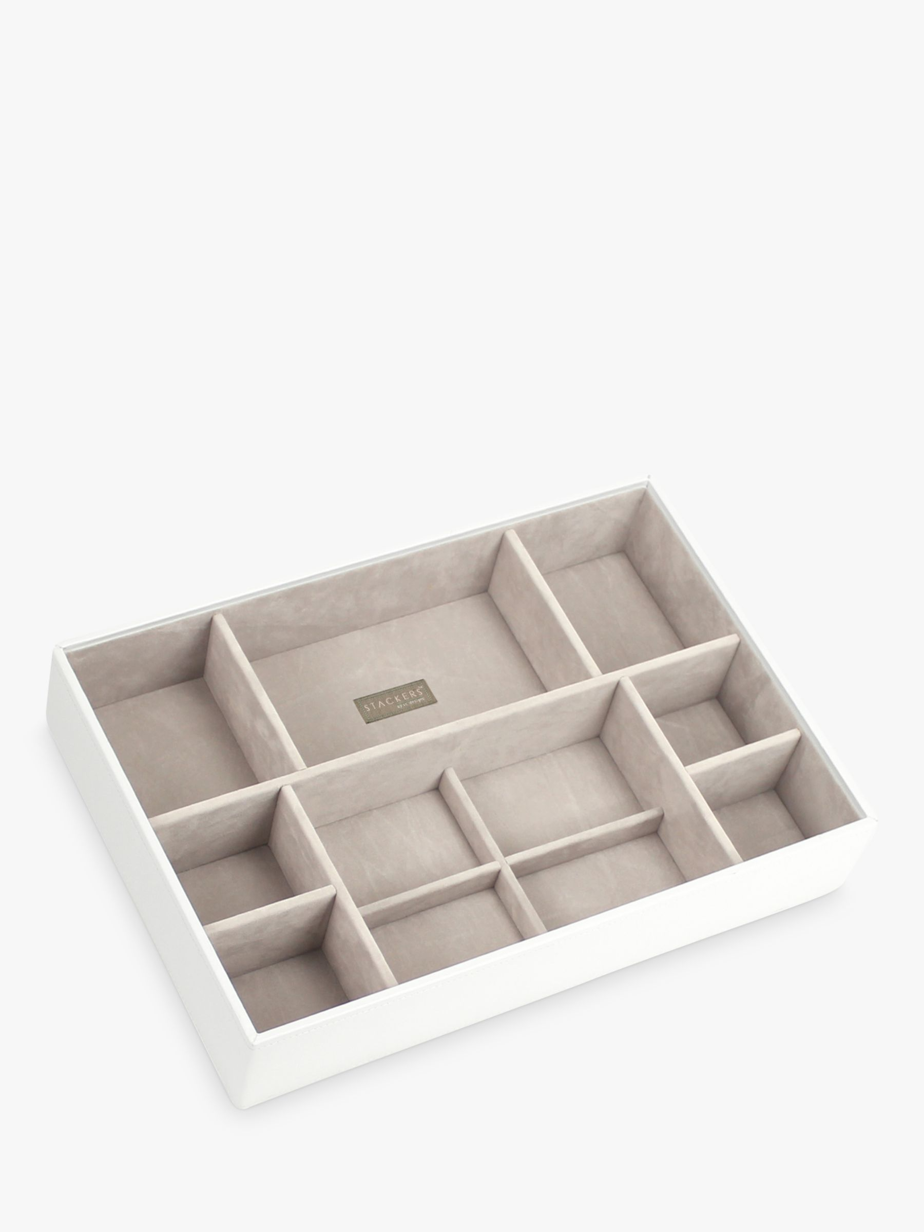 Stackers Stackers Supersize Deep 11-Section Jewellery Box, White