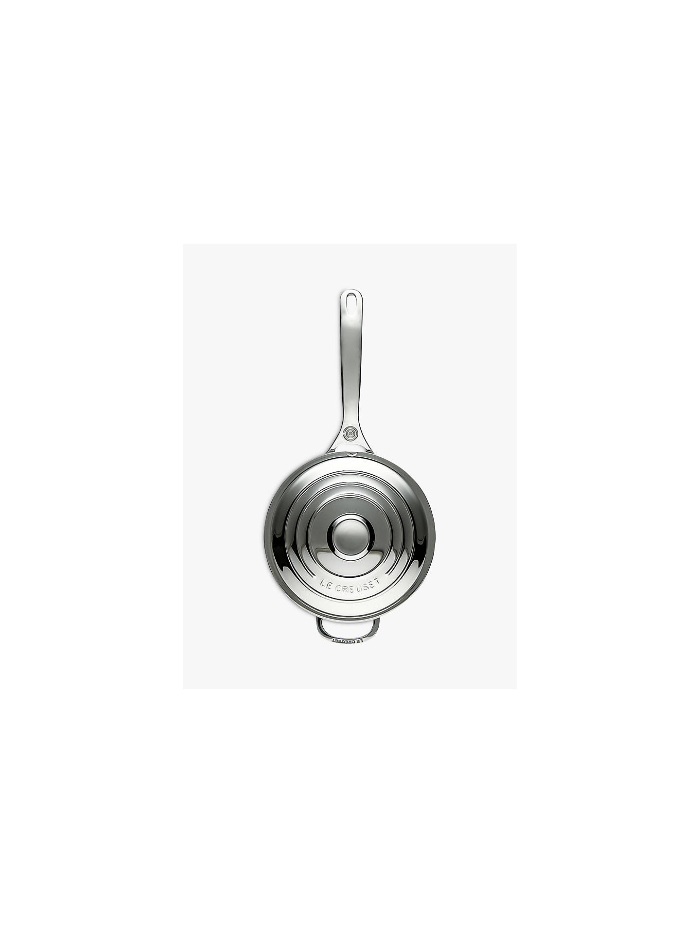 Buy Le Creuset Signature 3-Ply Stainless Steel 20cm Saucepan Online at johnlewis.com