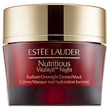Buy Estée Lauder Nutritious Vitality8 Night Overnight Mask, 50ml Online at johnlewis.com