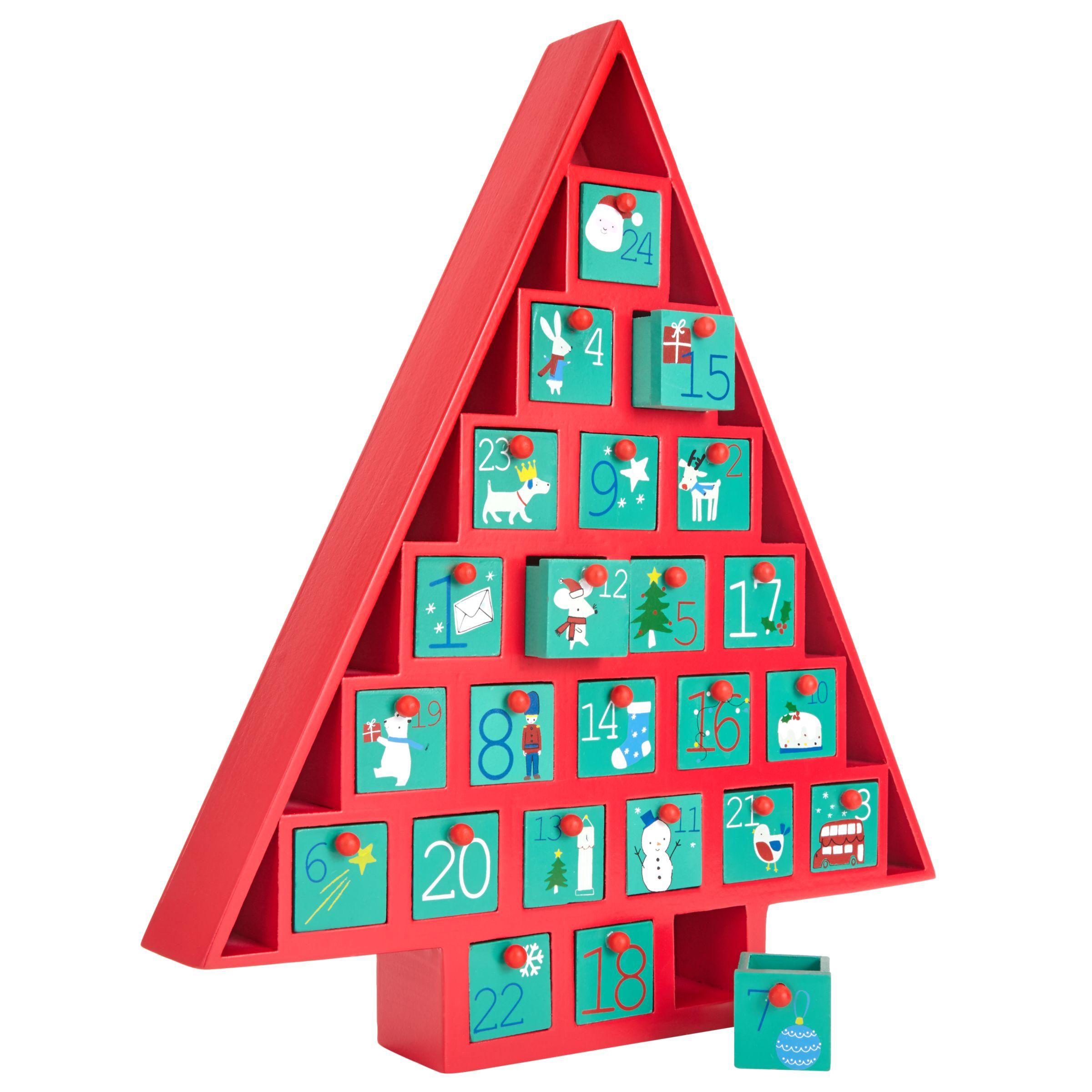 John Lewis Wooden Christmas Advent Calendar At John Lewis Partners