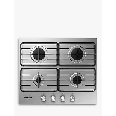 Samsung NA64H3110AS Gas Hob, Stainless Steel