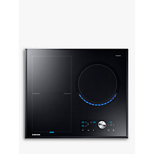 Buy Samsung NZ63J9770EK Chef Collection Virtual Flame™ Induction Hob, Black Glass Online at johnlewis.com