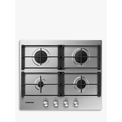 Samsung NA64H3010AS Gas Hob, Stainless Steel