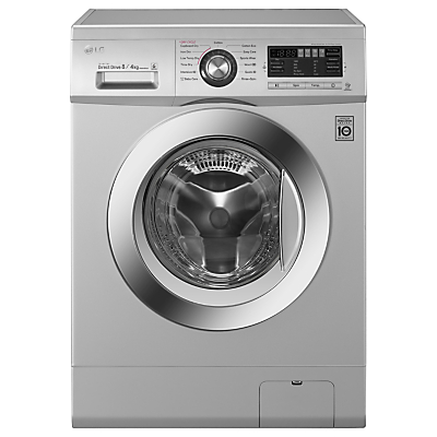 LG F1496AD5 Freestanding Washer Dryer, 8kg Wash/4kg Dry Load, B Energy Rating, 1400rpm Spin, Silver