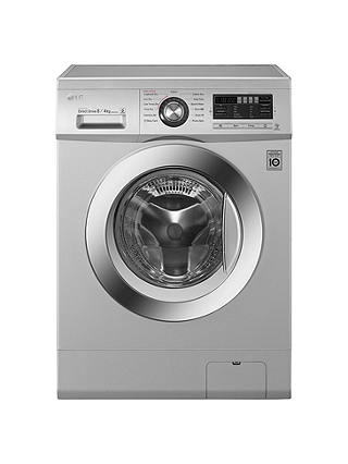 Buy LG F1496AD5 Freestanding Washer Dryer, 8kg Wash/4kg Dry Load, B Energy Rating, 1400rpm Spin, Silver Online at johnlewis.com