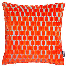 Buy Kirkby Design by Romo Bakerloo Cushion, Neon Orange Online at johnlewis.com
