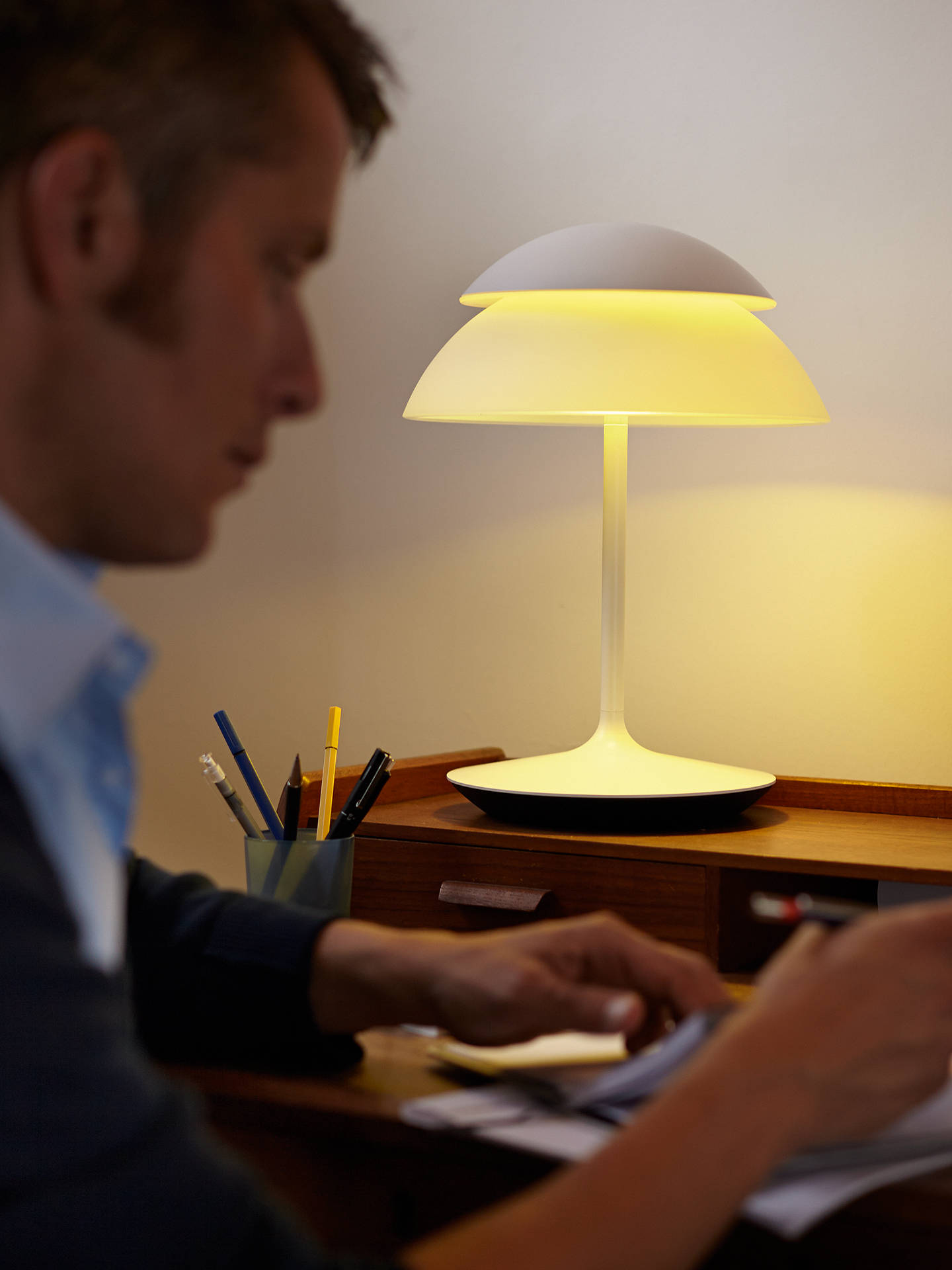 Buy Philips Hue Beyond LED Table Lamp Online at johnlewis.com
