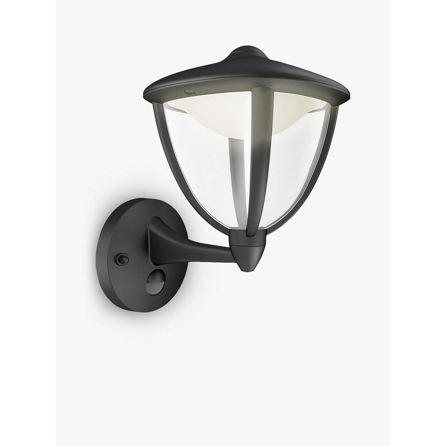 John Lewis Hector Outdoor Wall Light: Philips MyGarden Robin LED/PIR