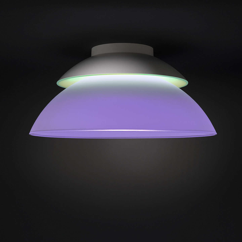 Philips hue beyond semi flush led ceiling light at john lewis buyphilips hue beyond semi flush led ceiling light online at johnlewis aloadofball Images