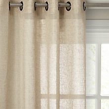 Buy John Lewis Kaolin Voile Eyelet Panel Online at johnlewis.com