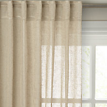 Buy John Lewis Kaolin Hidden Tab Top Voile Panel Online at johnlewis.com