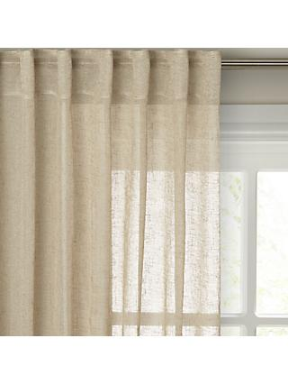 John Lewis & Partners Kaolin Hidden Tab Top Voile Panel