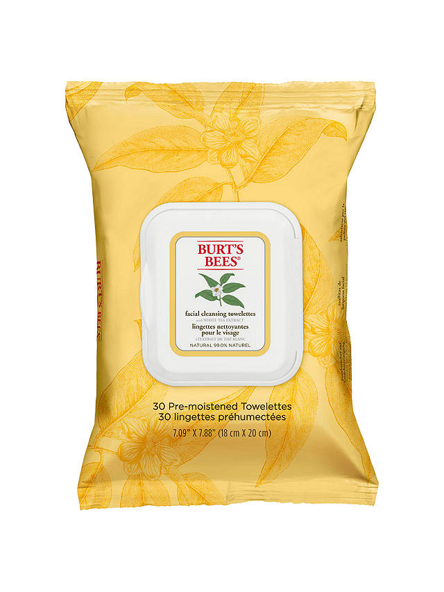 Buy Burt's Bees White Tea Facial Wipes, x 30 Online at johnlewis.com