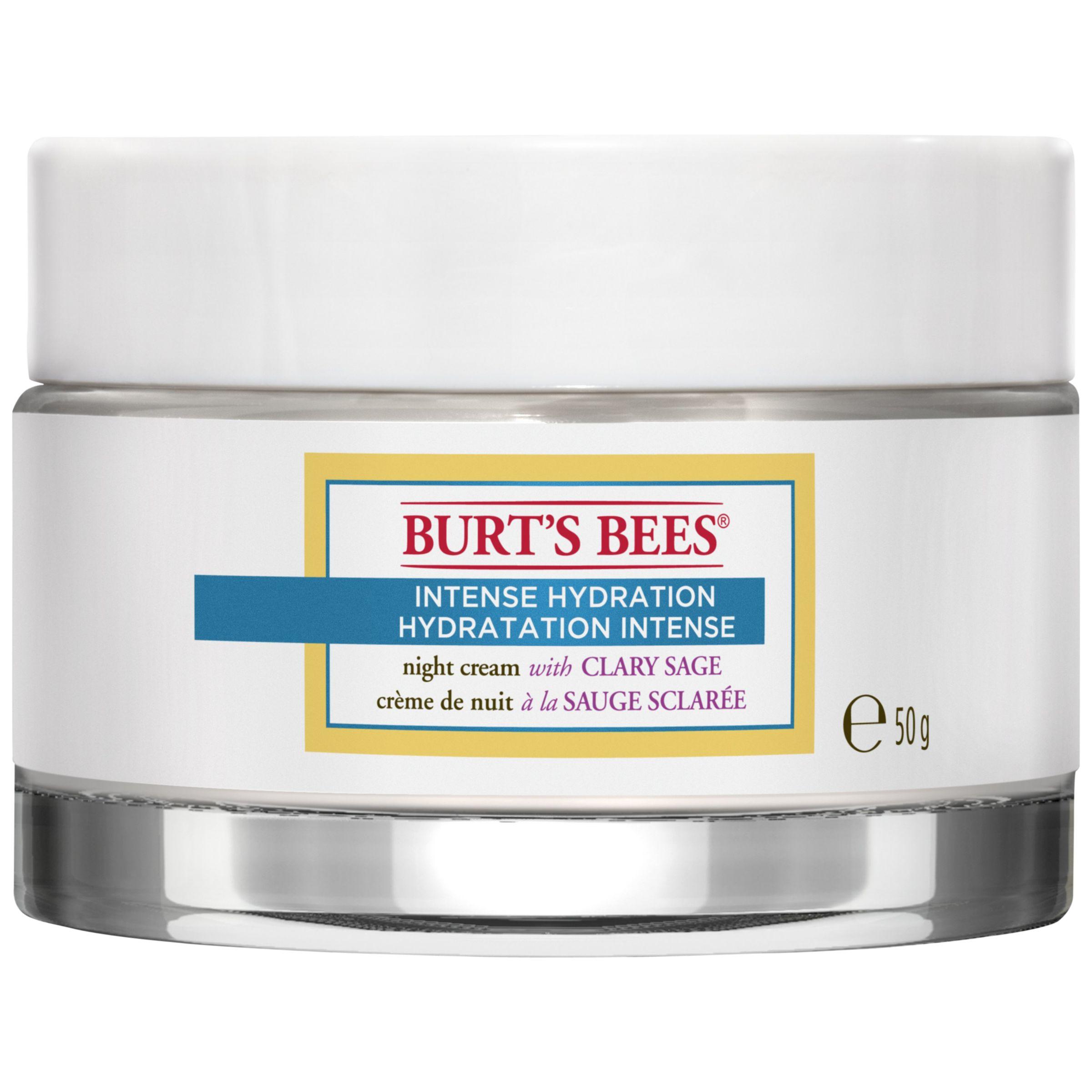 Burt S Bees Intense Hydration Night Cream 50g At John Lewis Partners