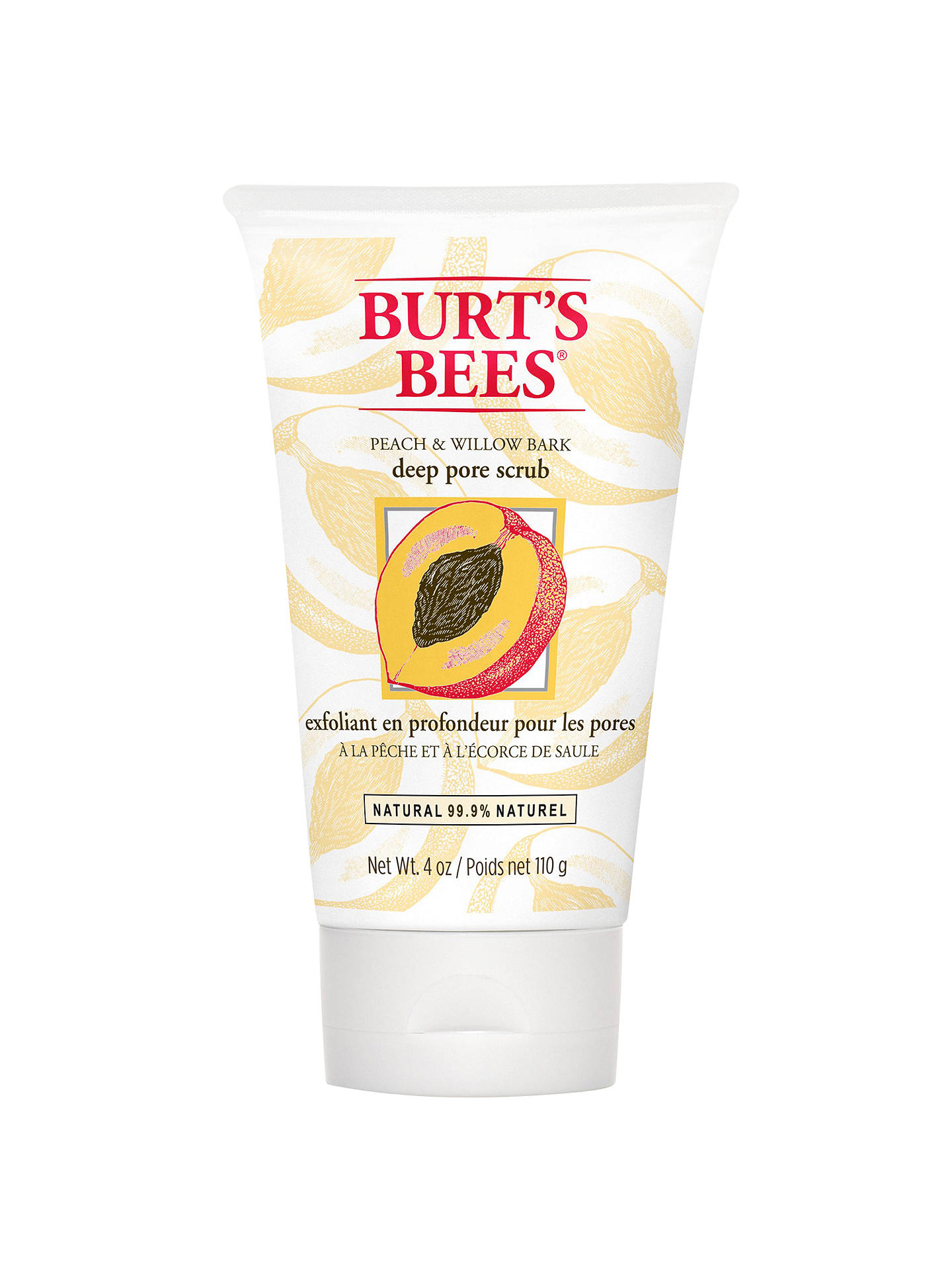 BuyBurt's Bees Peach and Willow Bark Deep Pore Scrub, 110g Online at johnlewis.com