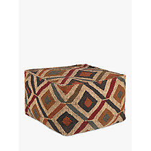 Buy John Lewis Kelim Crest Pouffe, Multi Online at johnlewis.com