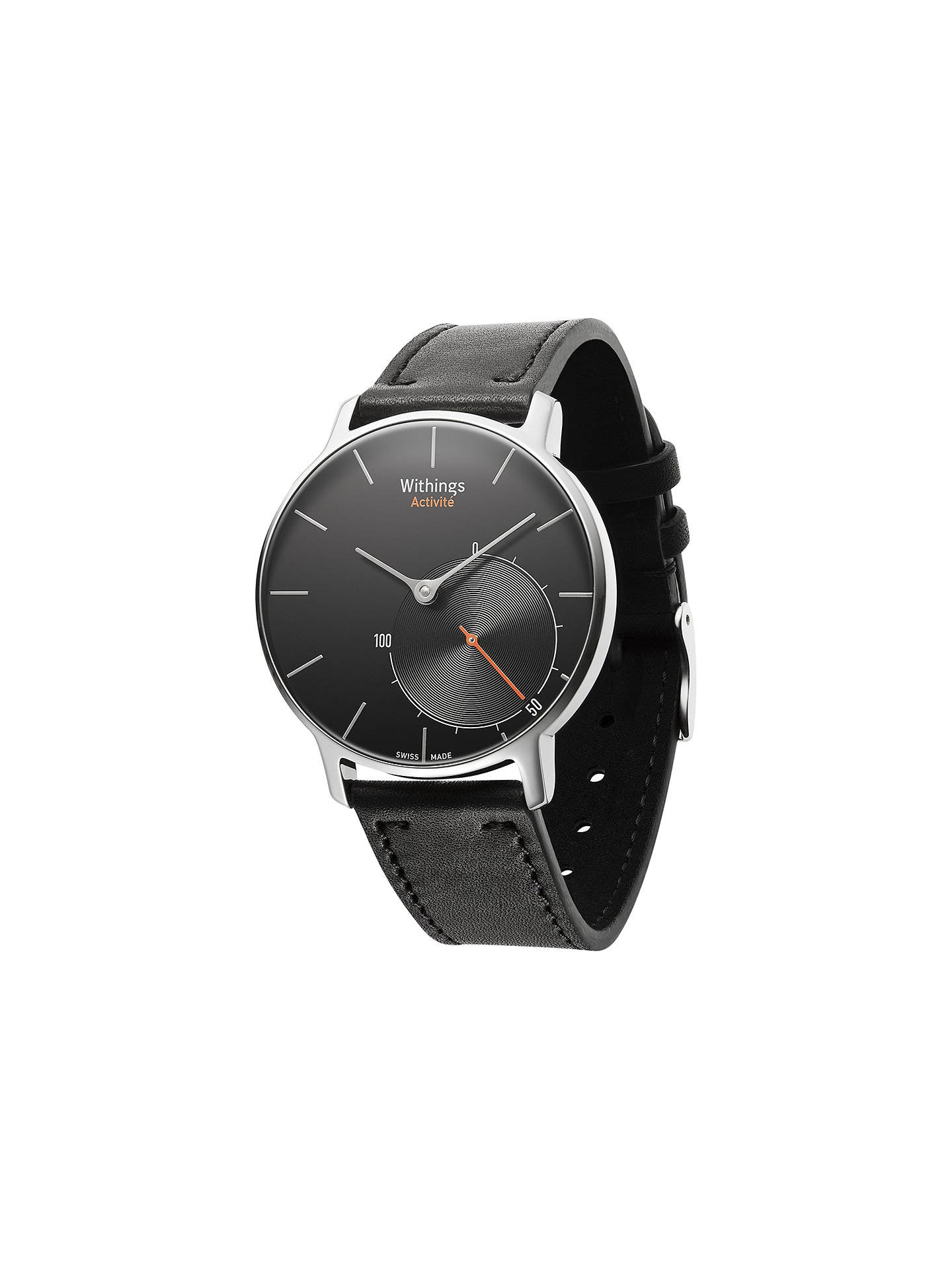 Buy Withings Activité Activity & Sleep Tracking Swiss Made Watch, Black Online at johnlewis.com