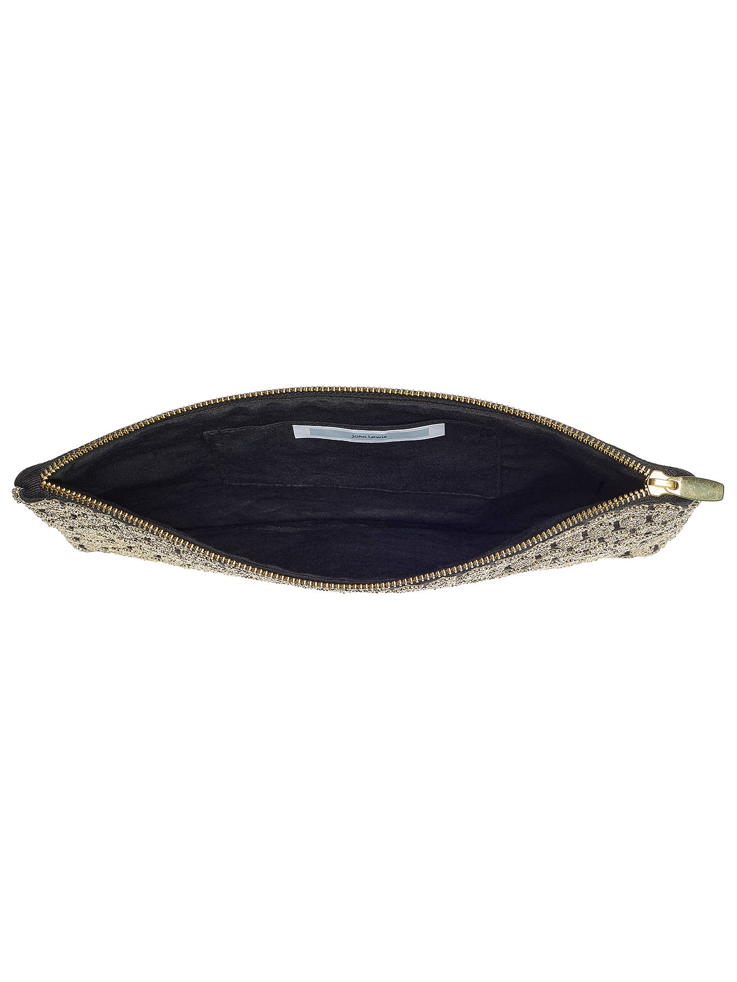 Buy John Lewis Honeycomb Pouch, Gold Online at johnlewis.com