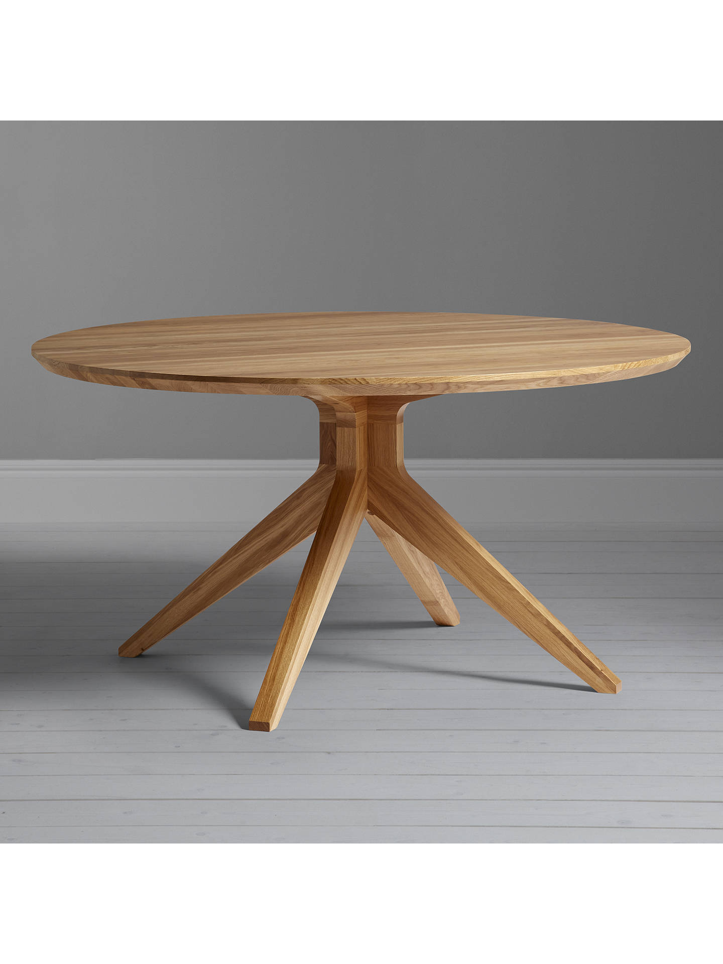 Matthew Hilton For Case Cross 6 Seater Round Dining Table Oak At