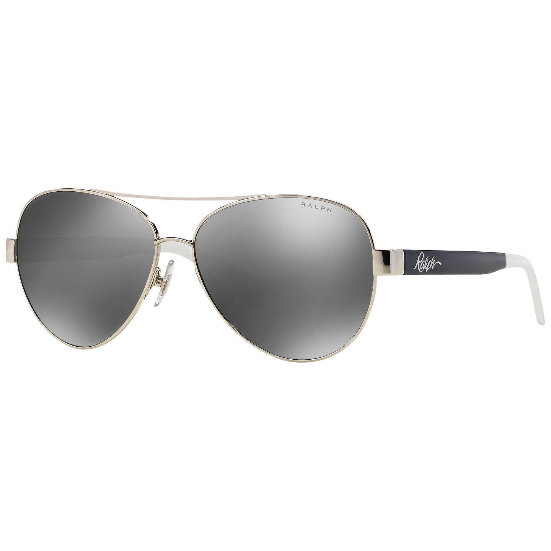 BuyRalph RA4114 Polarised Aviator Sunglasses, Silver Online at  johnlewis.com ...