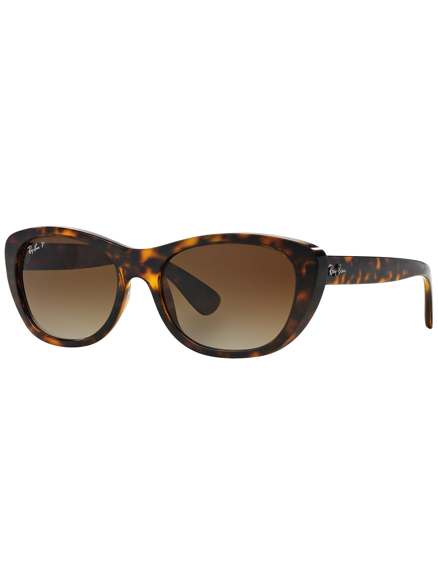 Buy Ray-Ban RB4227 Square Framed Sunglasses, Tortoise Online at johnlewis.com