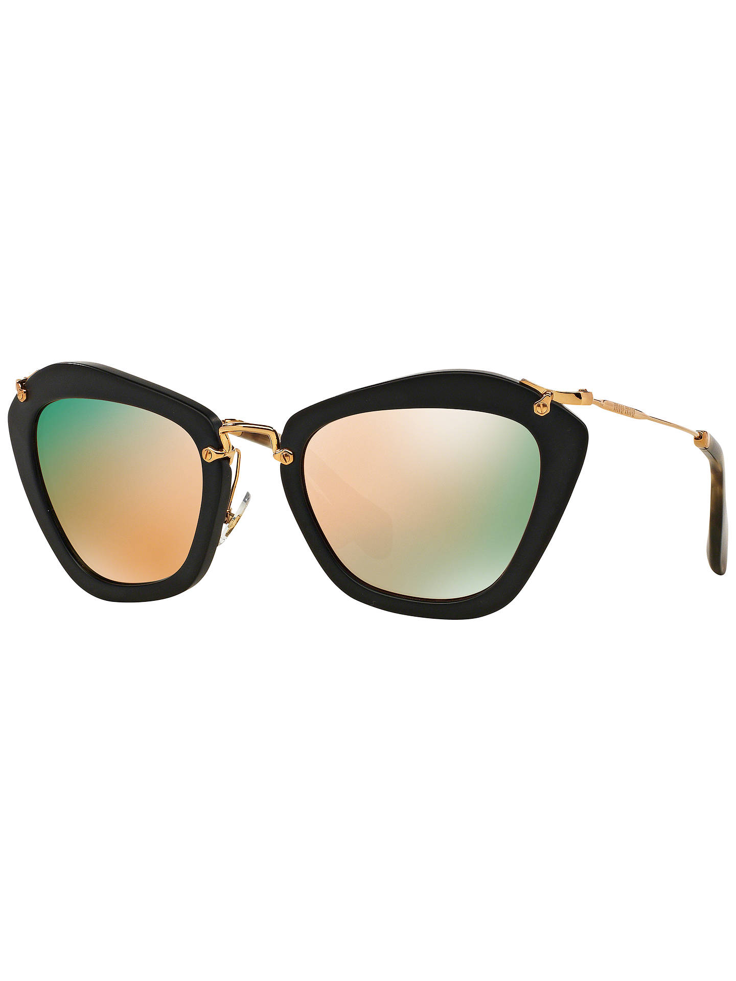 eed2237173cc Miu Miu MU10NS Cat s Eye Sunglasses at John Lewis   Partners