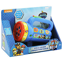 Buy Paw Patrol Fun & Learn Projector Torch Online at johnlewis.com