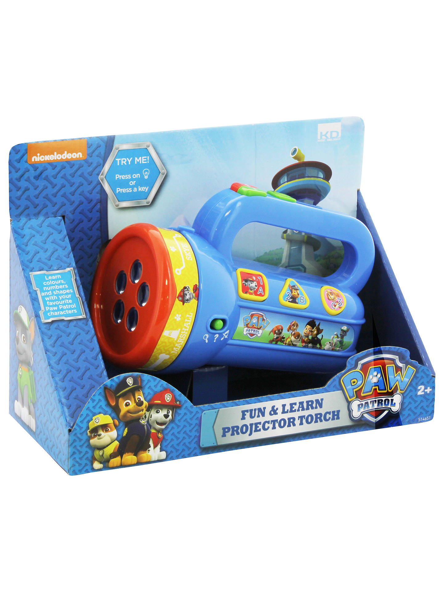 BuyPaw Patrol Fun & Learn Projector Torch Online at johnlewis.com