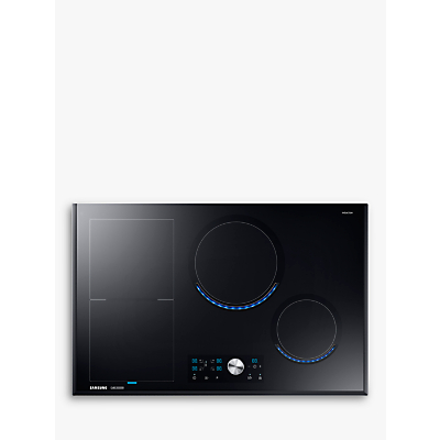 Samsung NZ84J9770EK Chef Collection Virtual Flame™ Induction Hob, Black Glass