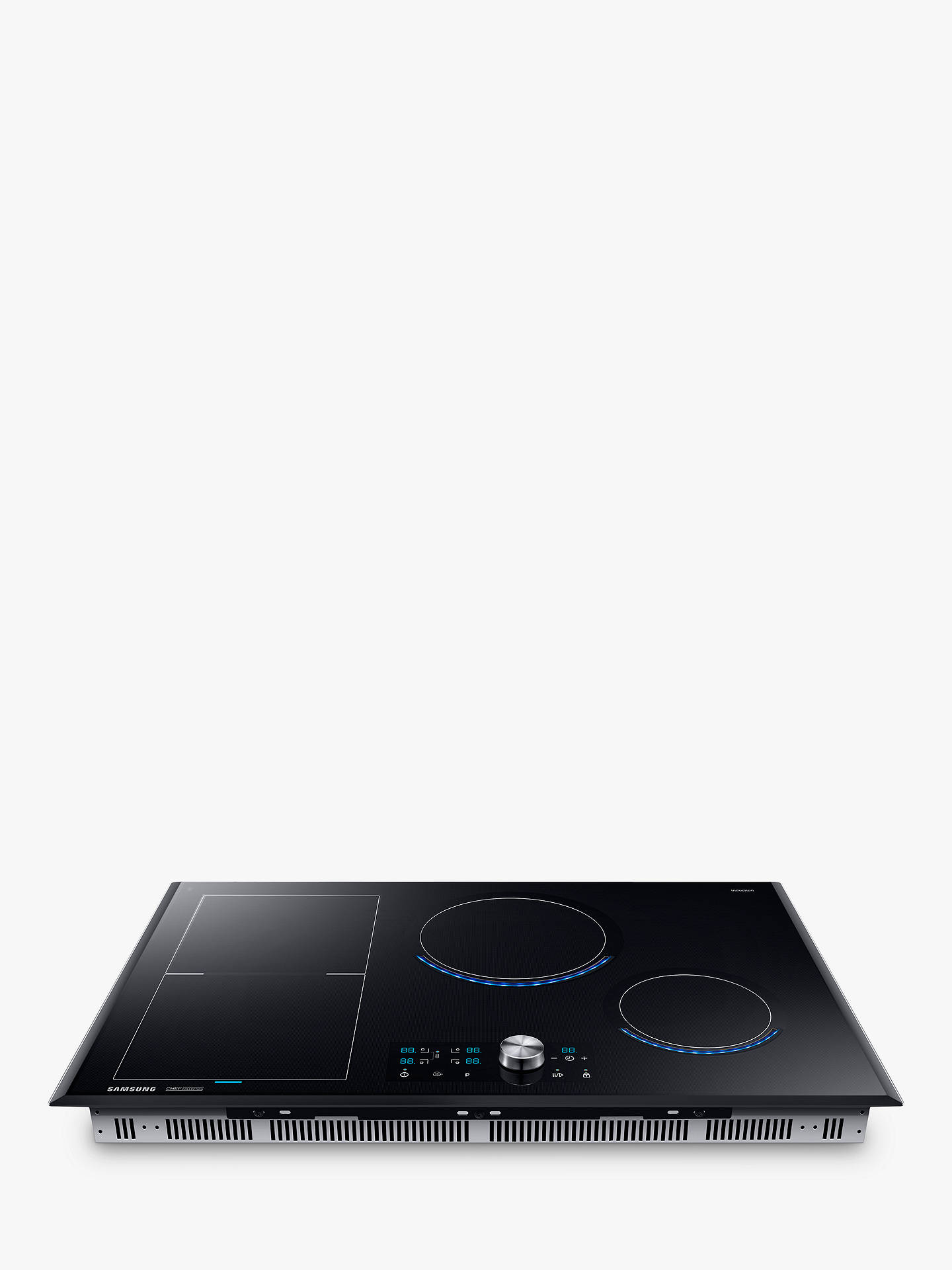 Buy Samsung NZ84J9770EK Chef Collection Virtual Flame™ Induction Hob, Black Glass Online at johnlewis.com