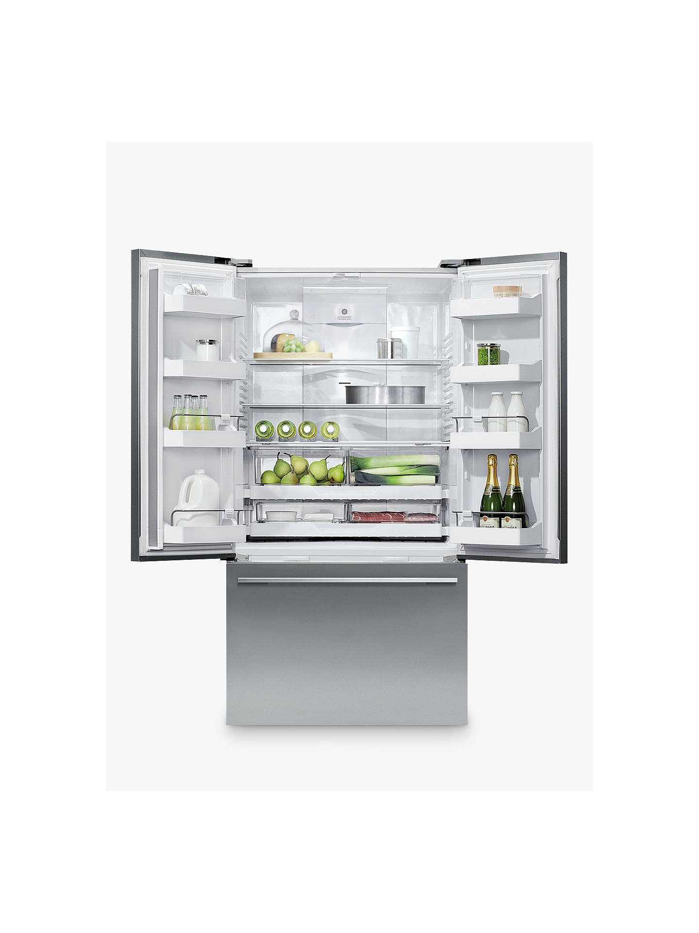 Buy Fisher & Paykel RF522ADX4 American-Style 60/40 Fridge Freezer, A+ Energy Rating, 79cm Wide, Stainless Steel Online at johnlewis.com