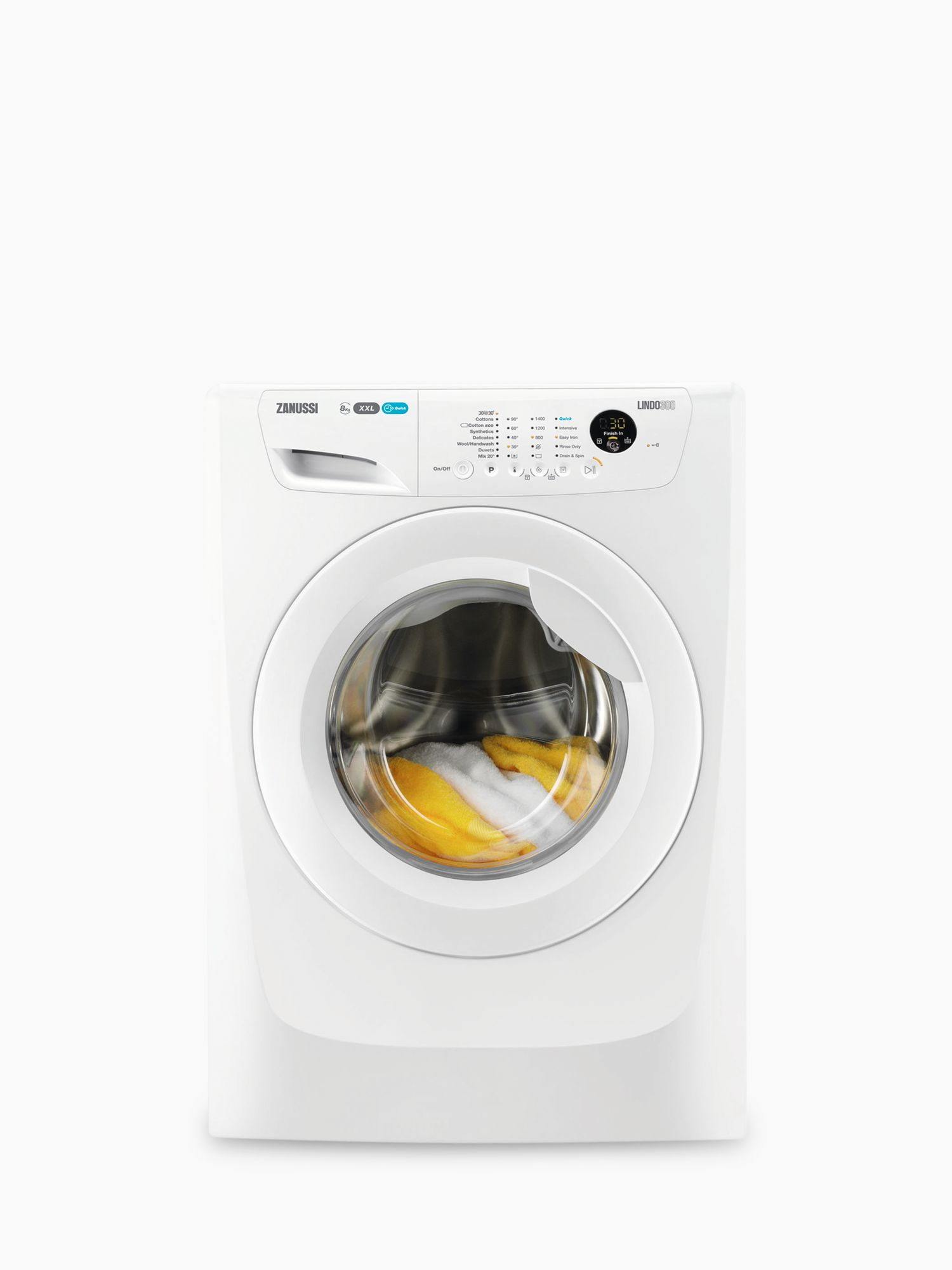 Zanussi Zanussi ZWF81463W Freestanding Washing Machine, 8kg Load, A+++ Energy Rating, 1400rpm Spin, White