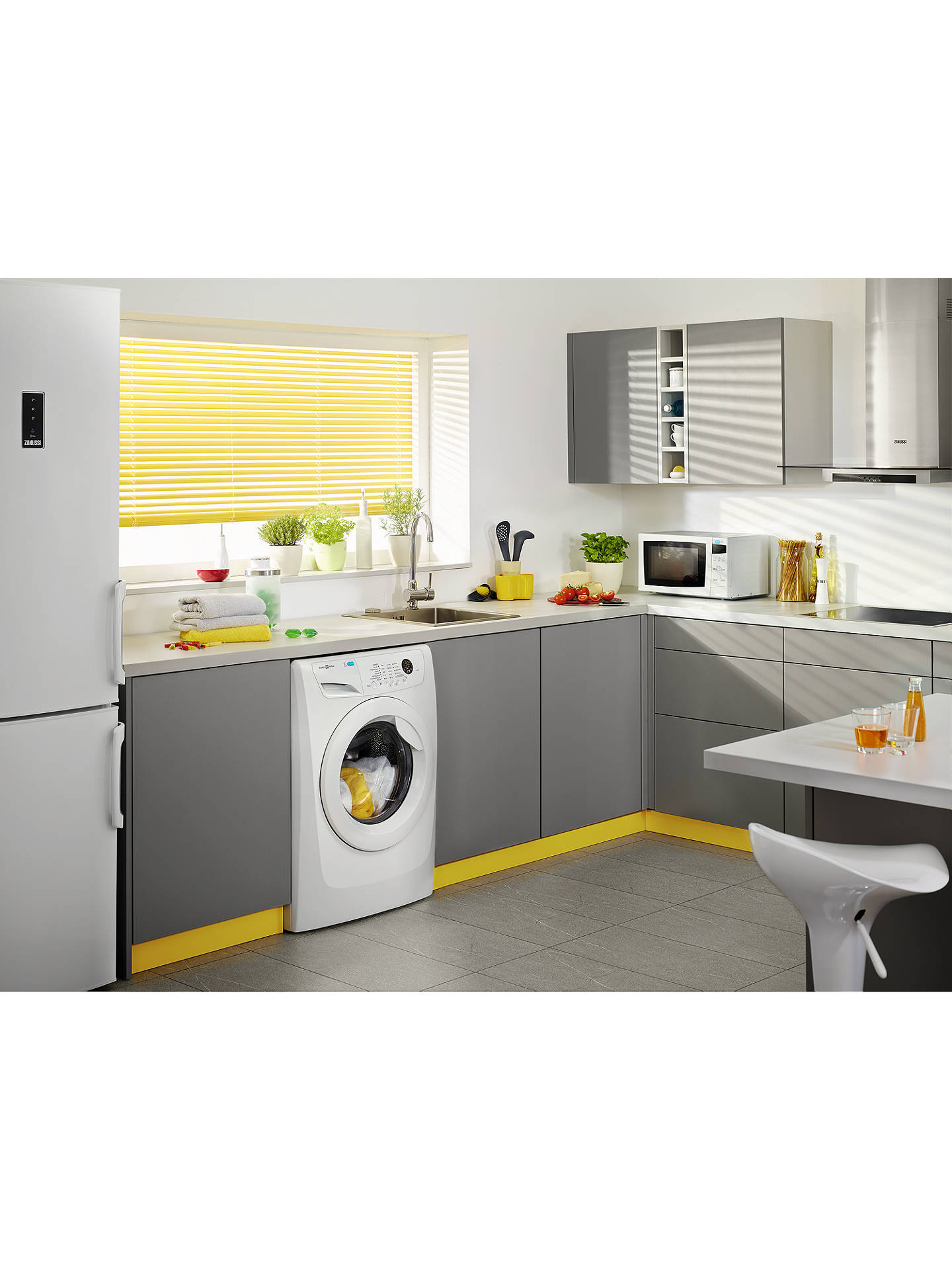 Buy Zanussi ZWF81463W Freestanding Washing Machine, 8kg Load, A+++ Energy Rating, 1400rpm Spin, White Online at johnlewis.com