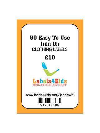 Labels4Kids Easy To Use Iron On Clothing Labels, Pack of 50