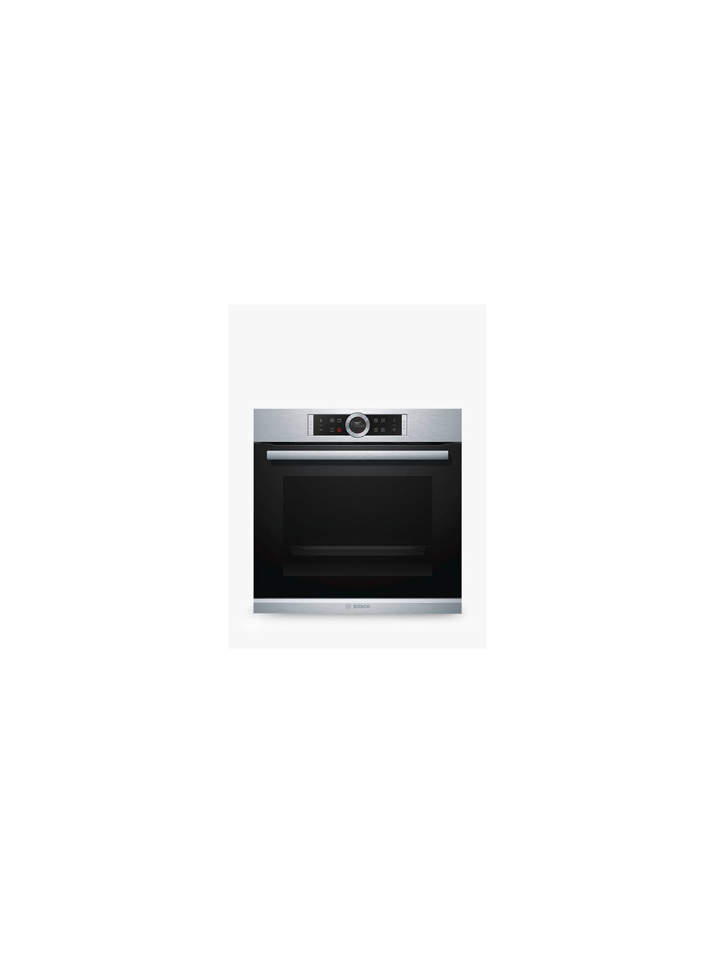 BuyBosch HBG674BS1B Single Pyrolytic Electric Oven, Brushed Steel Online at johnlewis.com