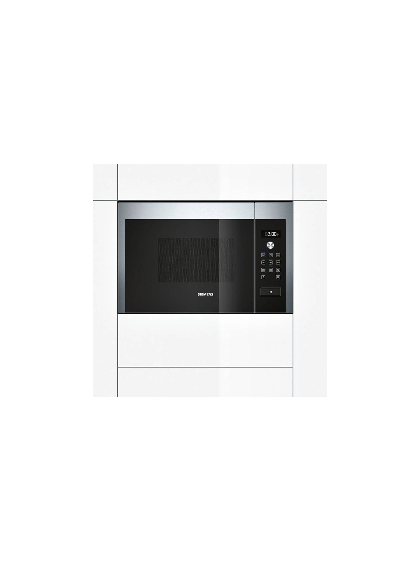 BuySiemens HF15M564B Compact Microwave Oven, Stainless Steel Online at johnlewis.com